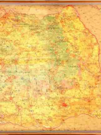 Romania -  Harta Economico-Geografica