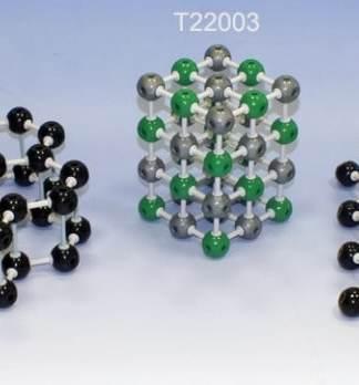 Retele cristaline 3 in 1 - grafit - clorura de sodiu - diamant
