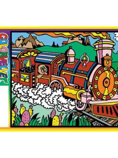 Plansa de colorat catifea - Trenul