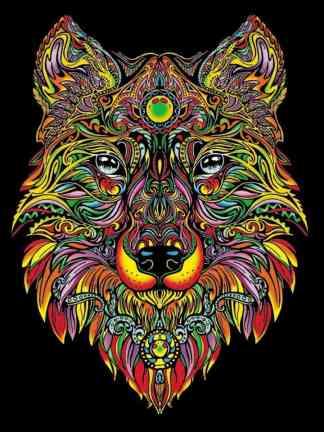 Plansa de colorat catifea - Lupul