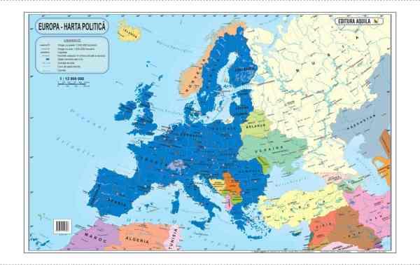 Harta fizica si administrativa a Europei 5