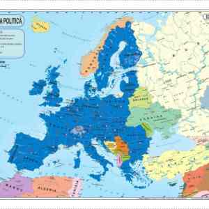 Harta fizica si administrativa a Europei 7