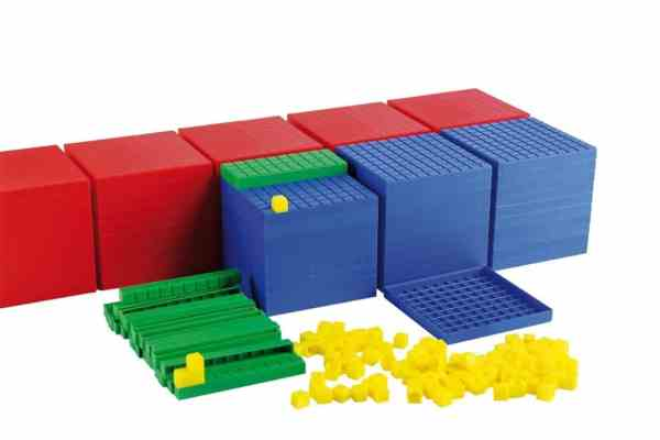 Sistemul zecimal, cuburi in baza 10, set pentru clasa 6