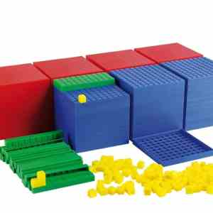 Sistemul zecimal, cuburi in baza 10, set pentru clasa 9