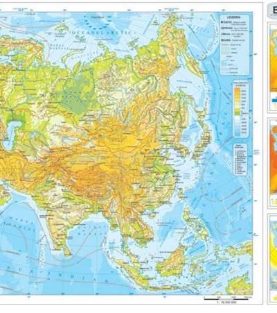 Harta fizica si administrativa Asia