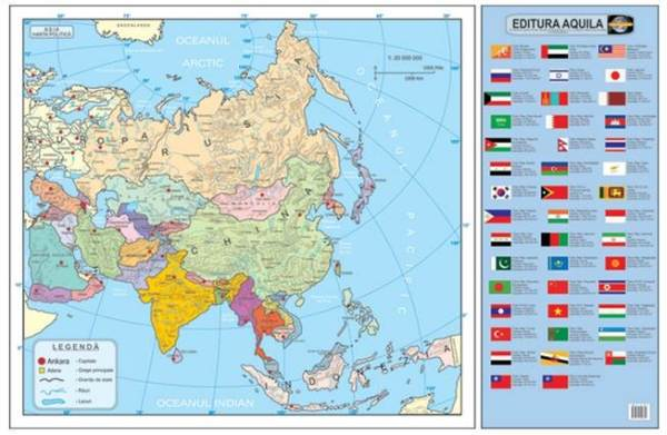 Harta fizica si administrativa Asia 5