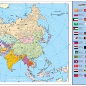 Harta fizica si administrativa Asia 7