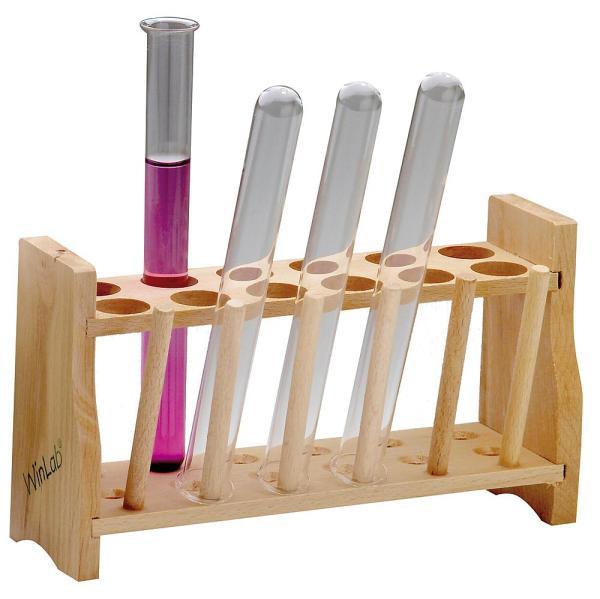 Stativ din lemn pentru 12 eprubete 3