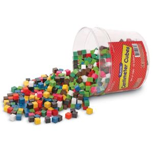 Cuburi multicolore - 1cm 7