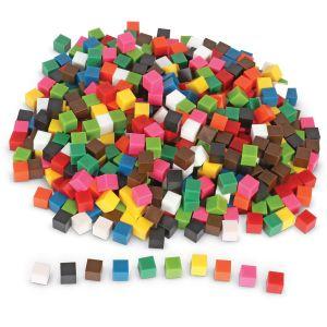 Cuburi multicolore - 1cm 8
