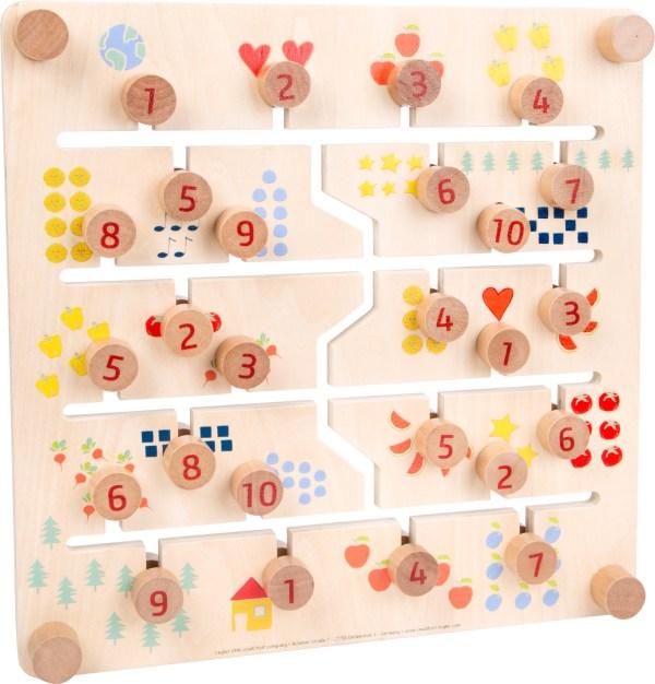 Puzzle glisant cu doua fete, litere si cifre 4
