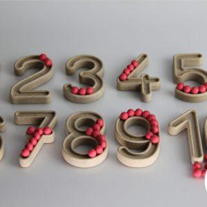 Set trasare cifre cu bilute 15