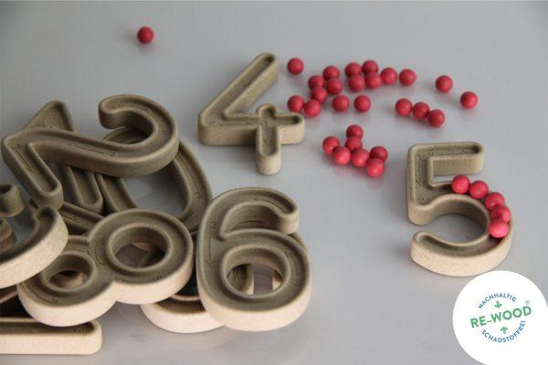 Set trasare cifre cu bilute 8