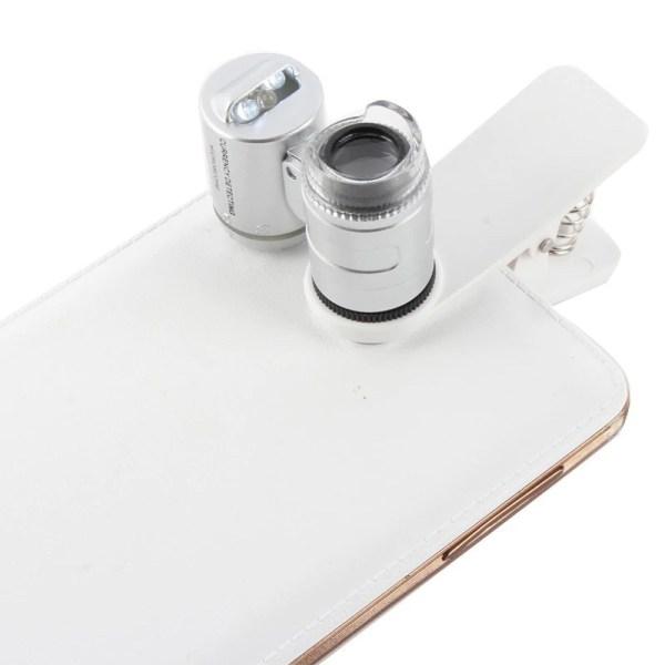 Mini Microscop 60X cu clip prindere Smartphone 5