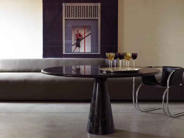 "alt=""bianco-nero-design-agape-tavolo-m-marmo-nero-marquinia-mangiarotti"""