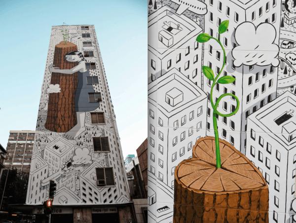 "alt=""tendenzecolore-pantone-2017-greenery-millo-streetart-graffiti-murales-santiagodelcile"""