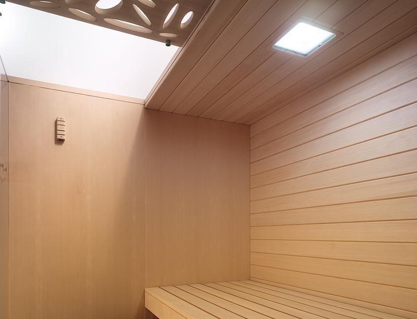 "alt=""Design sull'acqua - Yacht - Effegibi - Sauna - Sky Deco - Interno"""