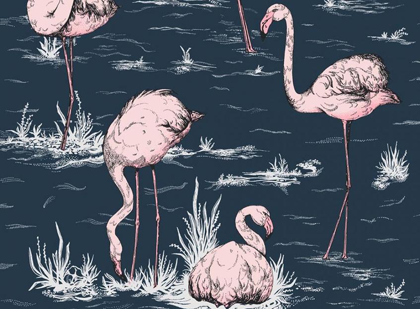 "alt=""Flamingo mania - Carta da parati - Feniccotteri rosa - Cole and Son -Icons Collection"""