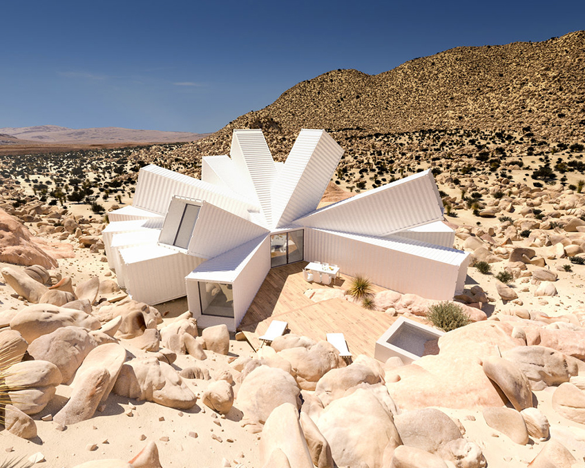 "alt=""Shipping container house - Whitake Studio - Joshua Tree Residence"""