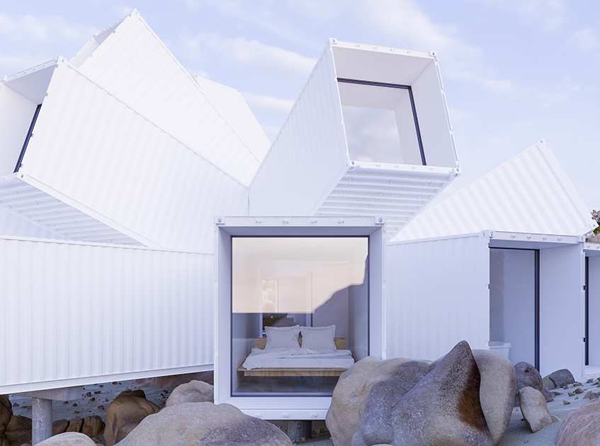 "alt=""Shipping container house - Whitaker+Studio - Joshua Tree Residence"""