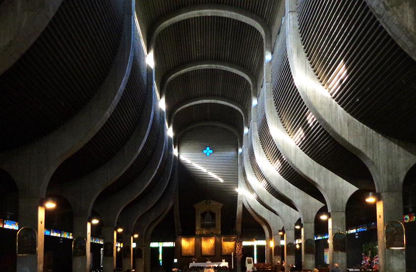 """alt""""Open house Milano - Chiesa San Nicolao della Flue - Interno - Gardella"""""""