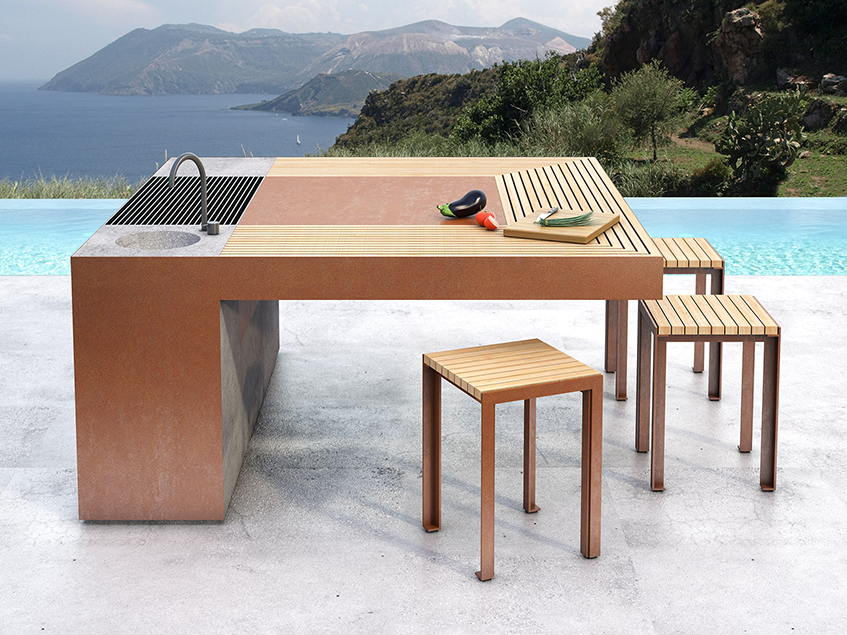 "alt=""Barbecue di design - Outdoor - Artena Design - Fuoco & Fiamme - Copertina"""
