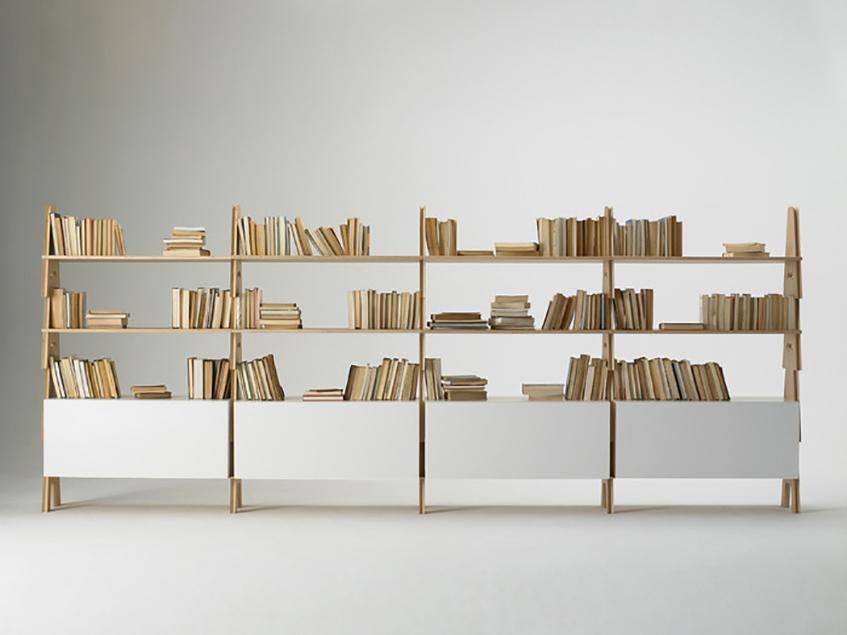 Librerie: spazi originali per custodire i libri materialiedesign