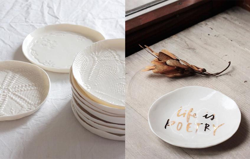 """alt=""""Regali di Natale & design - Servizio da tavola - Giovelab - Dettaglio piatti"""""""