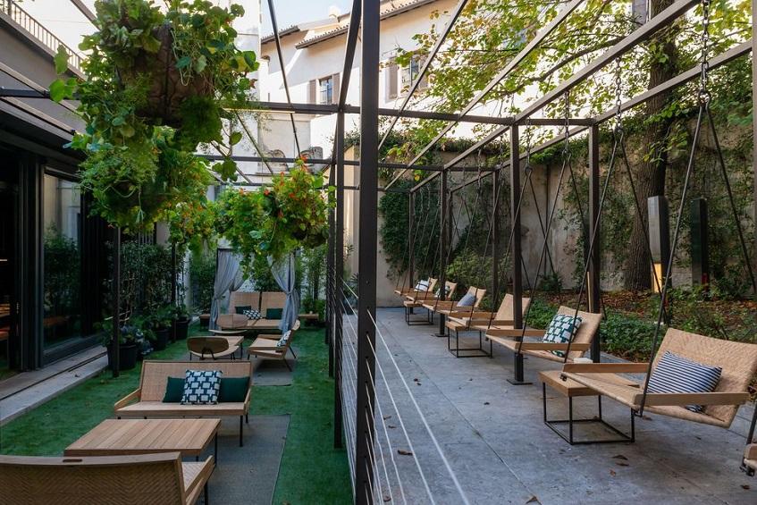 """alt=""""Benessere e ospitalità - Matteo Thun - Elle Decor - Palazzo Morando Milano - Orti sospesi"""""""