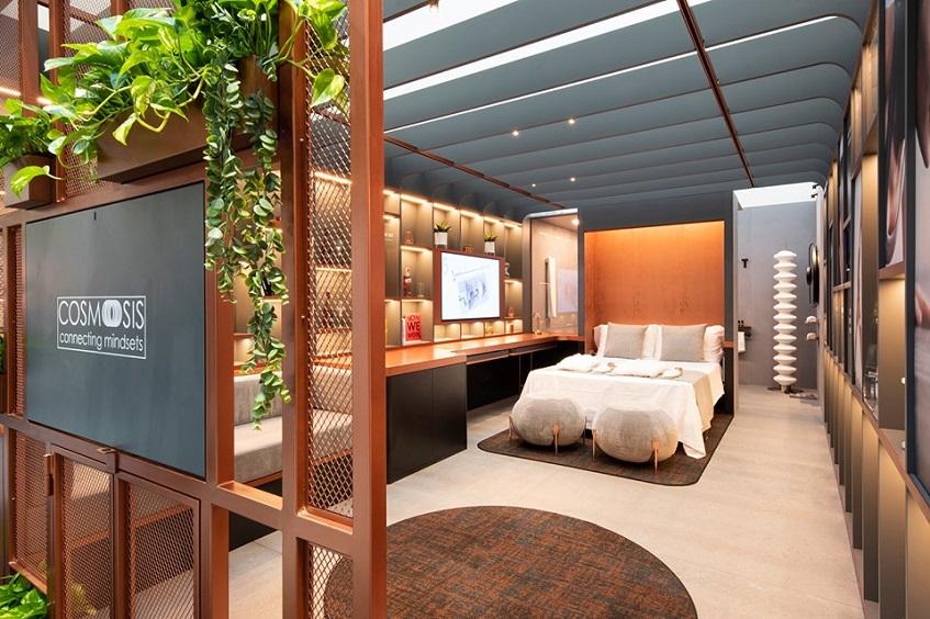 """alt=""""Design per l'ospitalità - SIA Rimini - Il Prisma - Cosmoosis notte"""""""