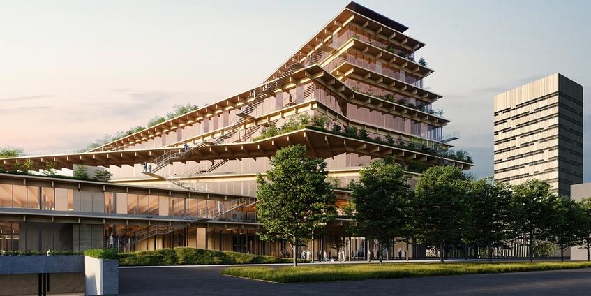 "alt: ""materialiedesign-copertina-new-office-progettare-uffici-2021-kengo-kuma-milano-parco-lambro-welcome-feeling-at-work"""
