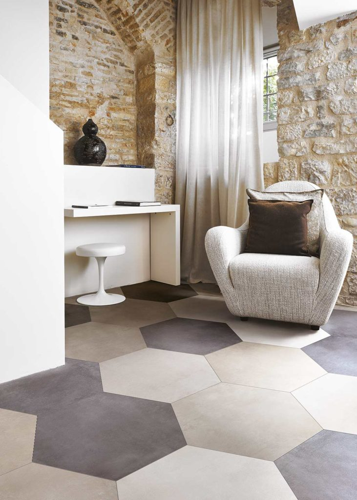 hexagonal floor tiles walls floors
