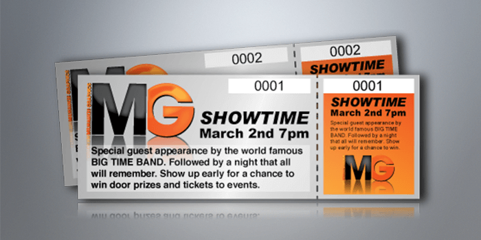 Custom Event Tickets Printing