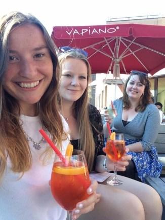 Drinks at the Vapiano restaurant.