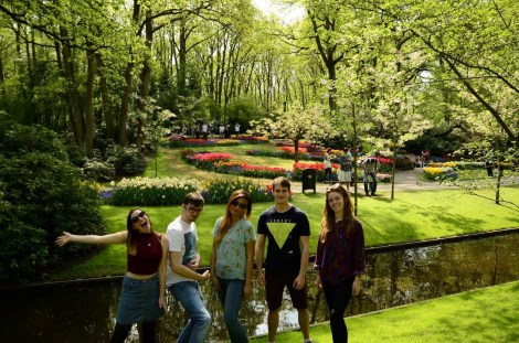 Holly, Matt, Mandy, Adam and Lauren at Keukenhof gardens.