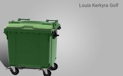 Αποστολή 7 πλαστικών κάδων  με split lid στο Luis golf στην Κέρκυρα