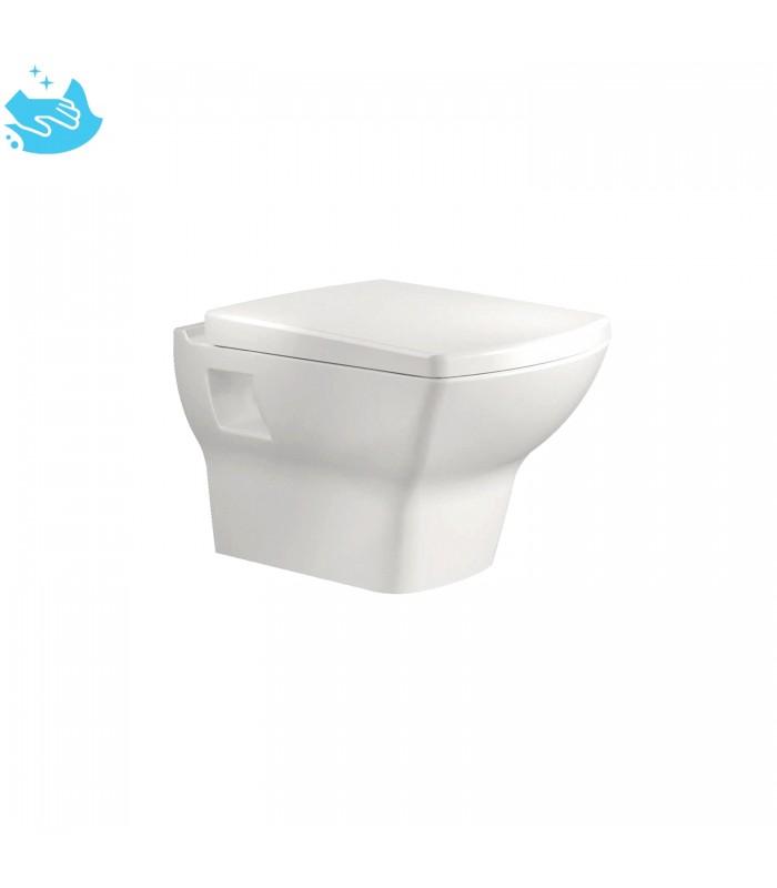 dor wc suspendu type carre version no rim alpine blanc de bien seramik