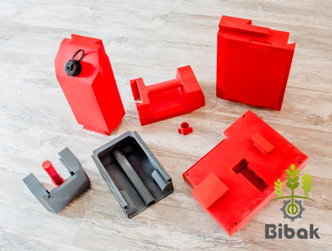 3D printed CANNY from Bibak: a jerrycan that contains a mosular pod of sensors for landmines detection