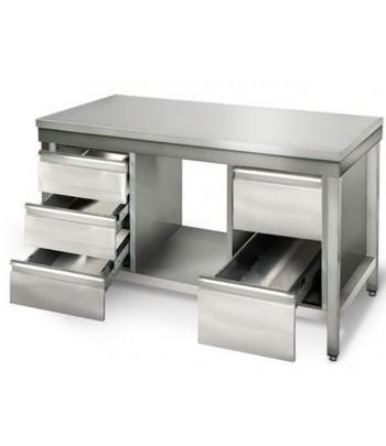 table inox plan de travail professionnelle 1 0 m modulable