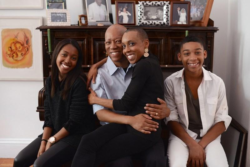 Andrea Davis Pinkney and family