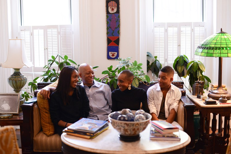 Andrea Davis Pinkney with family in Brookly