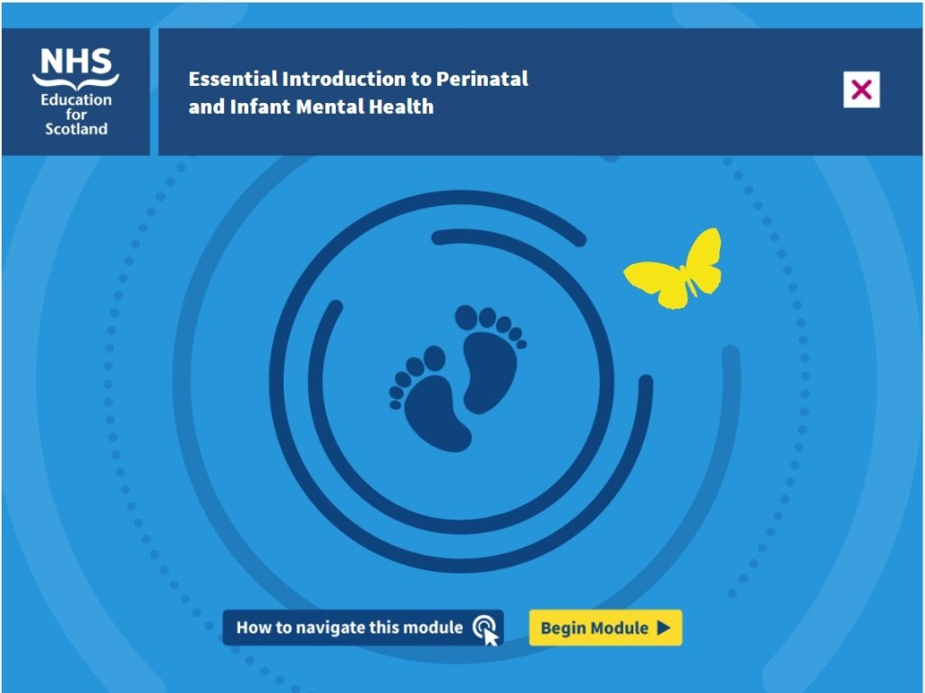 Title image of the Essential Introduction to Perinatal MH mosule from NHS EDucation for Scotland