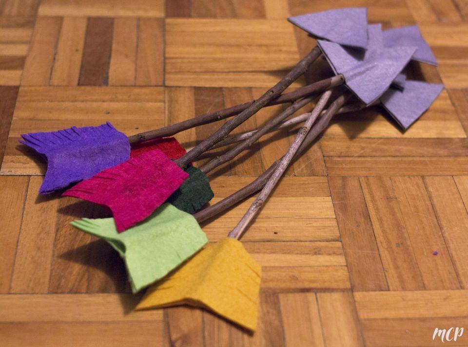 flechas indias manualidades