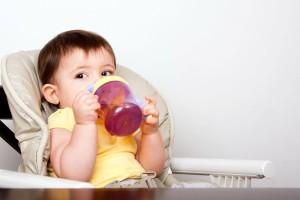 beber agua bebes