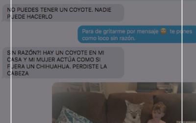 😂 Mujer le hace broma a su marido haciéndole creer que adoptó un Coyote