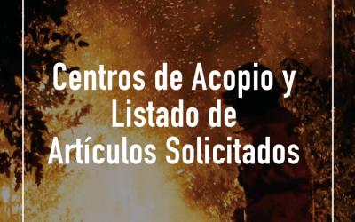 Información y Centros de Acopio Para Ayudar a Brigadistas y Bomberos De Chile