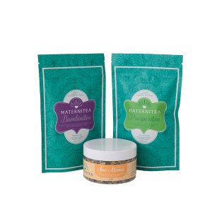 New Mama Bundle with Loose Leaf Tea and Bath Salts Packaging