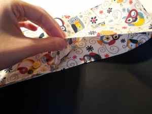 cómo coser una pizarra enrollable