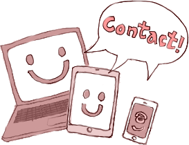 マタニティペイントの流れ 体験レポ イラスト02 Contact!