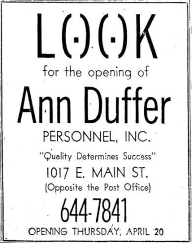Ann Duffer Personnel